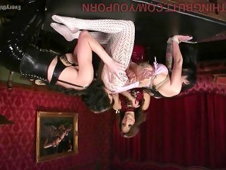 dominatrix babes teaching their slaves about obedience